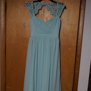 New Mint Green Maxi with lace detail at top